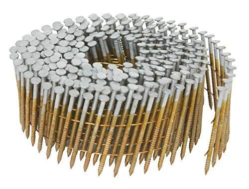 Airtoolsdepot Hitachi 1 1 4 Inch X 0 092 Inch Full Round Head Ring Shank Hot Dipped Galvanized Wire Coil Siding Nails Ine