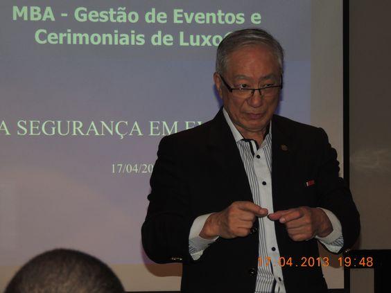 Sensei Roberto Maruyama - Aula de Segurança em Eventos do MBA Gestão de Eventos e Cerimoniais de Luxo  da Roberto Miranda Educação Corporativa - Mario Ameni.