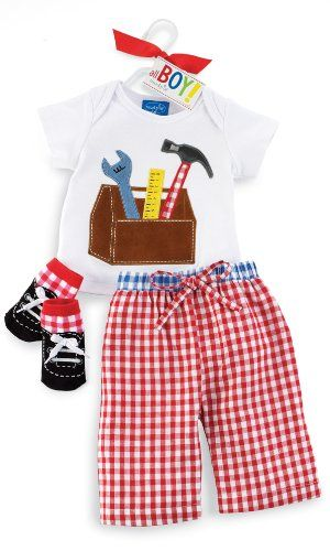 $28.99-$28.99 Baby Mud Pie All Boy Tool Box 3 Piece Set, Red/White, 2-3T - Mud Pie is the leading manufacturer of adorably packaged, innovatively designed and affordably priced gifts. This season Mud Pie designers have developed over 900 new items; gifts for the home and hostess, gifts for baby, seasonal gifts for nearly every holiday, and an expanded collection of fashion accessories. Mud Pie d ...