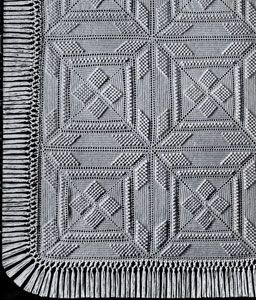 NEW! Star Popcorn Bedspread crochet pattern from Heirloom Spreads, Volume 49.