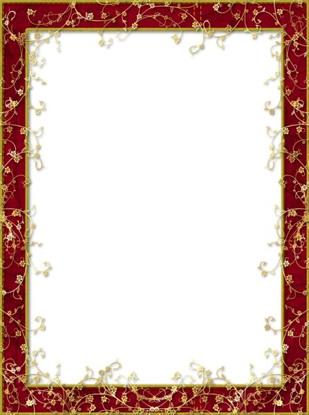 red frames png   Red_Transparent_PNG_Frame_with_Gold ...