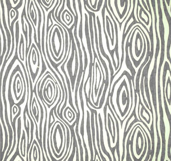 grey woodland home decor fabric by the yard designer drapery or upholstery fabric grey