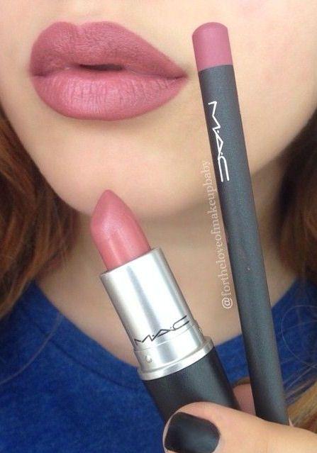 MAC Soar Lipliner & Brave Lipstick :: #makeup #tips