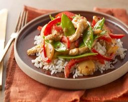 Sweet-n-Spicy Chicken Stir-Fry  Sounds quick and easy - my kind of cooking!