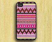 Aztec iPhone case iPhone4 iPhone4s Aztec Orange Purple. via Etsy.