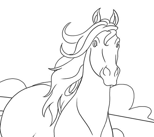 Horse Coloring Pages Horse Drawings Horse Painting
