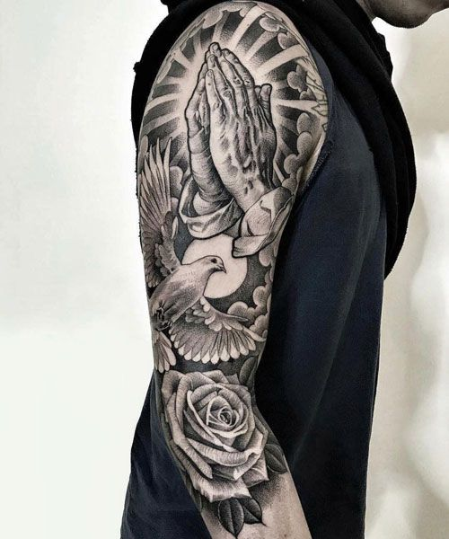 Religious Tattoos Sleeves : religious, tattoos, sleeves, Tattoos, Tattoo, Ideas, Designs, (2021), Christian, Sleeve, Tattoo,, Tattoos,
