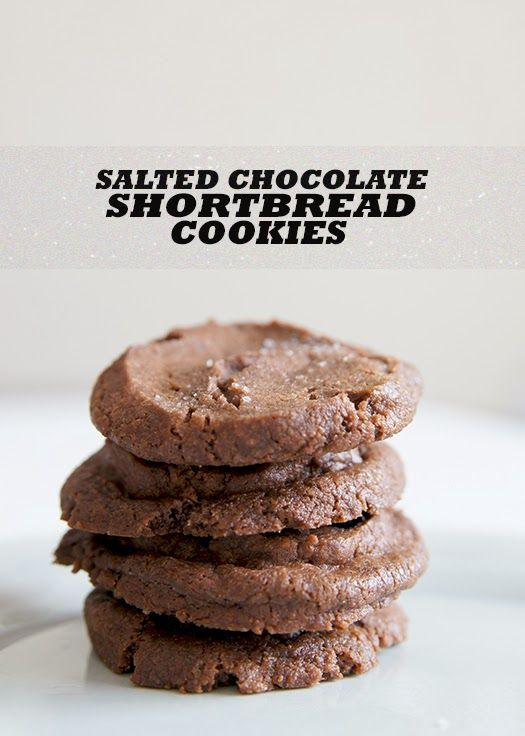 Salted Chocolate Shortbread Cookies ~ so easy and DIVINE! Butter with a Side of Bread #recipe #cookie