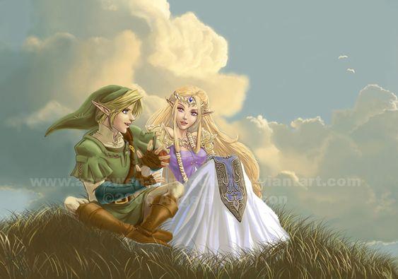 The Legend of Zelda series, Link and Princess Zelda / Zelda - Tell Me The Story by Aerawen-Vanhouten on deviantART