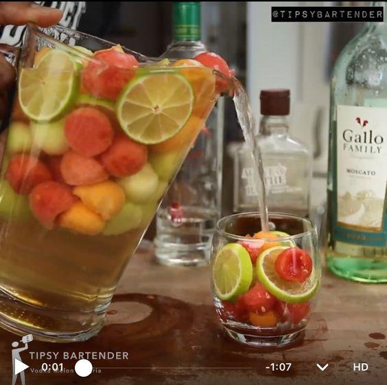 Vodka Melon Sangria