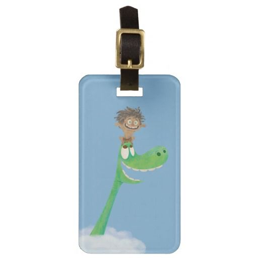 Drawing of Spot And Arlo In Clouds Travel Bag Tag
