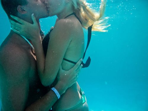 As long as I can kiss you under water I can breathe.