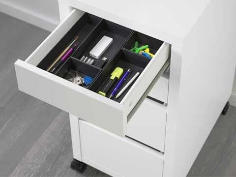 An Alex Drawer Unit With Grasidan Organizers Inside Drawer Unit Ikea Drawer Organizer Ikea Alex Drawers