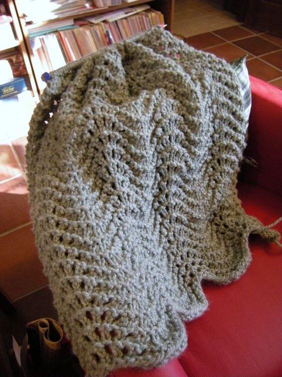Simple Knitted Prayer Shawl Pattern Knit Shawl Patterns ...