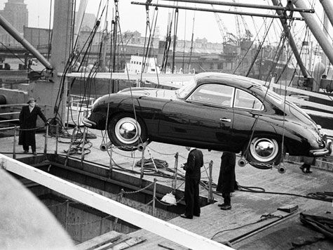 Shipping to the US in 1953 ( Porsche 356 )