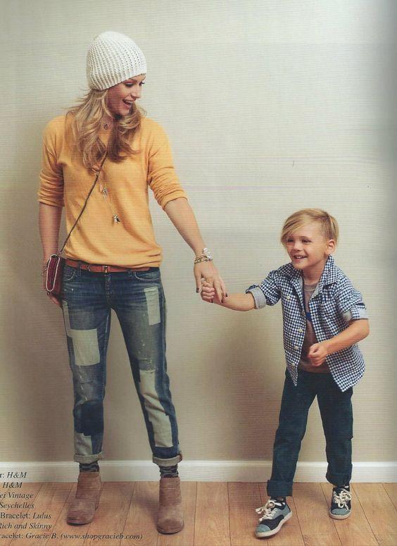 AJ Cook with her son Mekhai Allan Andersen