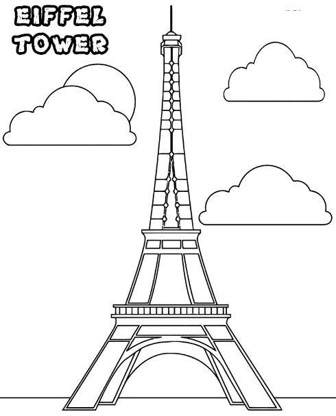 Eiffel Tower Coloring Pages Eiffel Tower Tower Paris Eiffel Tower
