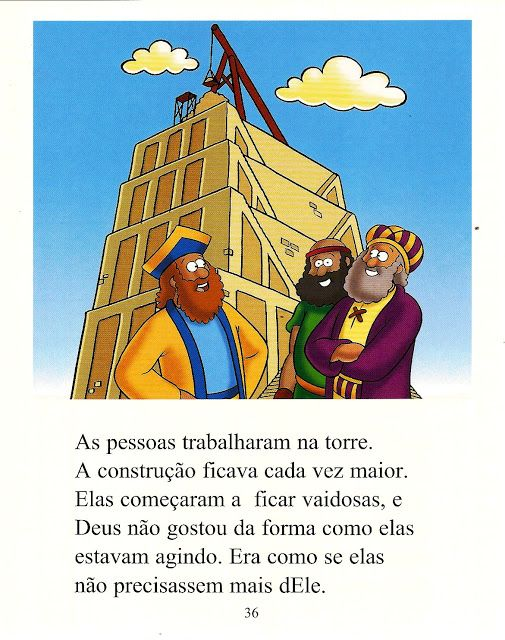 Historia Biblica A Torre De Babel Com Atividades Recursos
