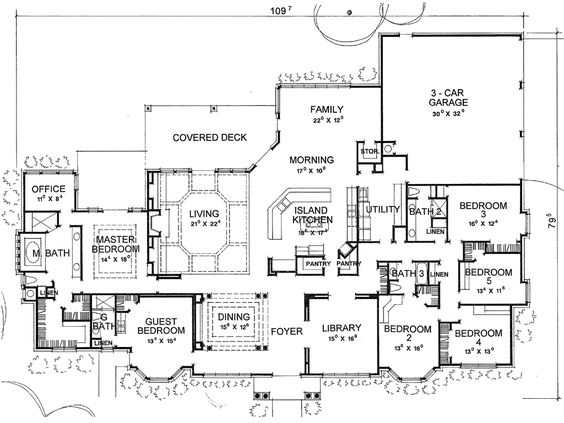 The Valdosta House Plan - 3752 floor plan. would make a couple changes.