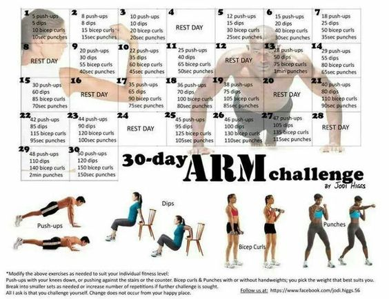 30 day arm challenge 30 day arms and arm challenge on pinterest