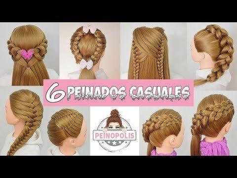 6 Peinados Casuales Para Cabello Largo Con Trenzas Para La Escuela Faciles Y Rapidos Youtube Peinados Faciles Y Rapidos Peinados Casuales Peinados Faciles