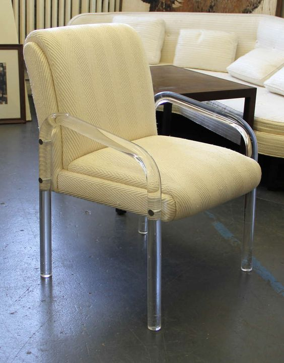 Leon Frost For Lion In Frost Lucite Desk Or Dining Chair