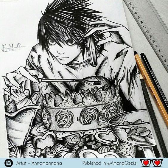 L  . . . #Draw #Drawing #Art #Fanart #Artist #Illustration #Design #sketch #doodle #tattoo #Arthelp #Anime #Manga #Otaku #Gamer #Nerdy #Nerd #Comic #Geek #Geeky . .  Geek drawings gallery.  Use #ArtForGeeks for a chance to be featured  Artist credit