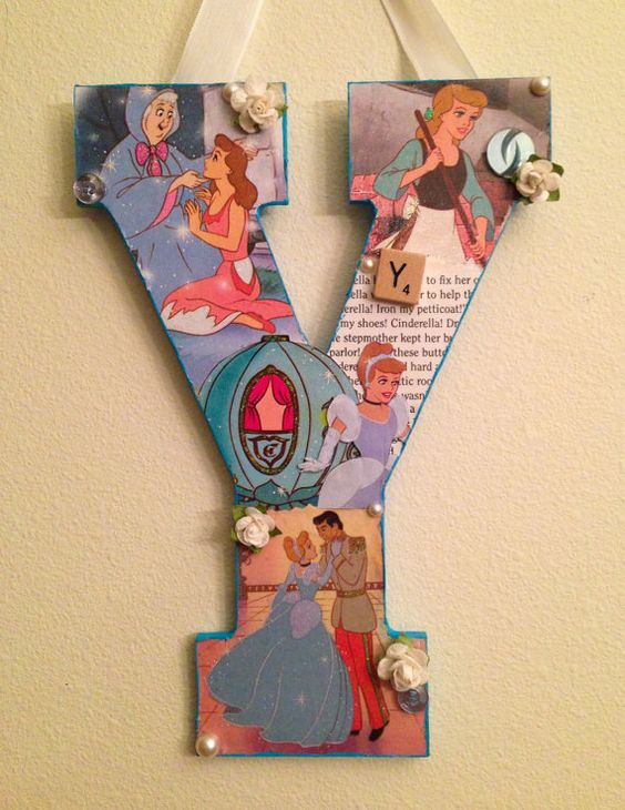 Letter Y Any Theme Disney wooden letter 11 by SpikaInteriors