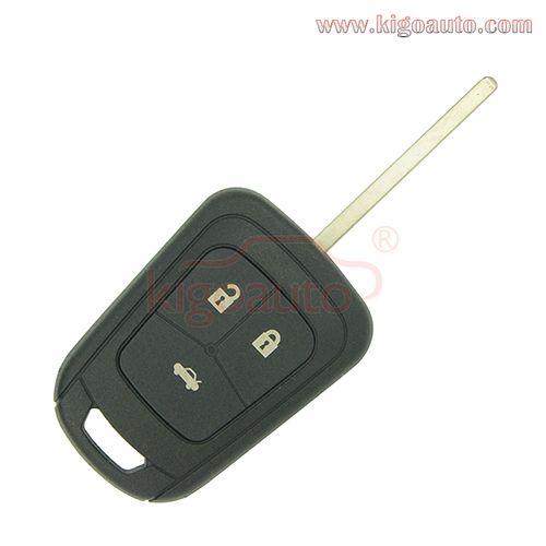Flip Key Shell 3 Button For Chevrolet Aveo Chevrolet Aveo