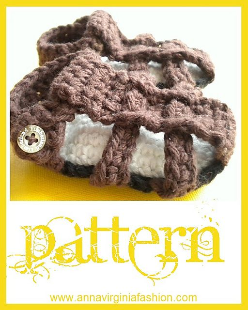 Ravelry: Baby Summer Sandals (Boy or Girl) pattern by Anna Virginia