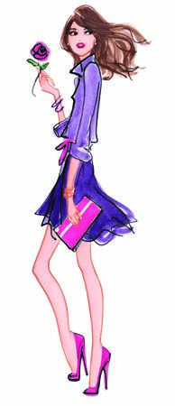 iza kzenou fashion illustration #watercolor #trafficnyc info@traffic-nyc.com #lancome