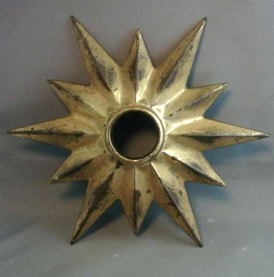 Antique 19th century Gilt Brass Ceiling Medallion for Mounting a from classictradition on Ruby Lane