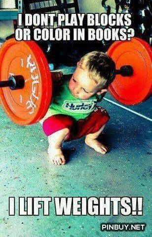 I lift weights! - Fitness, Training, Bodybuilding Quotes