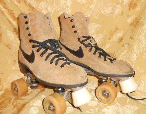 Vintage Nike Roller Skates W Box Brown Suede Vintage Nike Brown Suede Roller Skates
