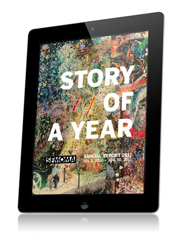 Awesome! Explore this annual report app created by the San Francisco Museum of Modern Art