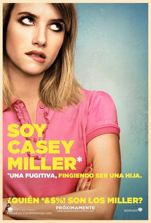 We Re The Millers Quien Son Los Miller 2013 Mexican Movie Poster Soy Casey Miller Una Fugitiva Somos Los Miller Poster De Peliculas Poster