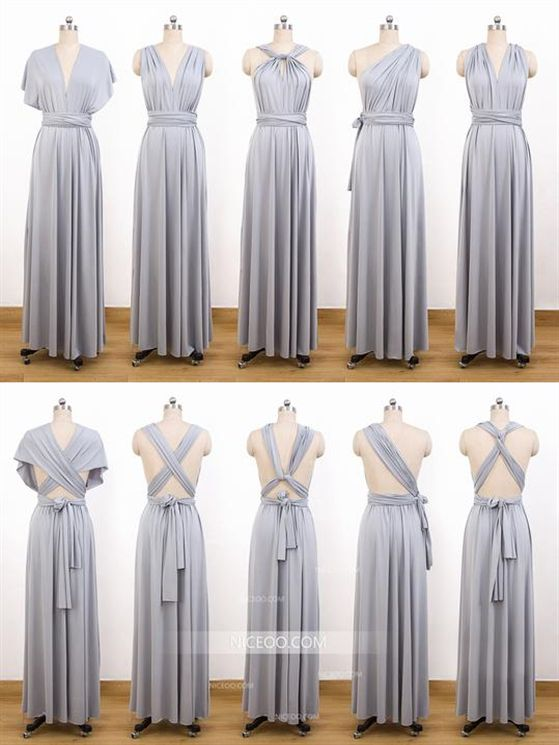 Gray Multiway Bridesmaid Dresses Convertible Dresses Infinity Dresses Multiway Bridesmaid Dress Infinity Dress Bridesmaid Grey Bridesmaid Dresses Long