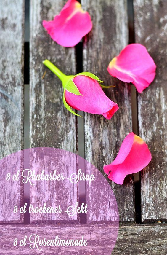 Rhubarb Rose Cocktail #foodblog #drinks #cocktails #roses #rhubarb