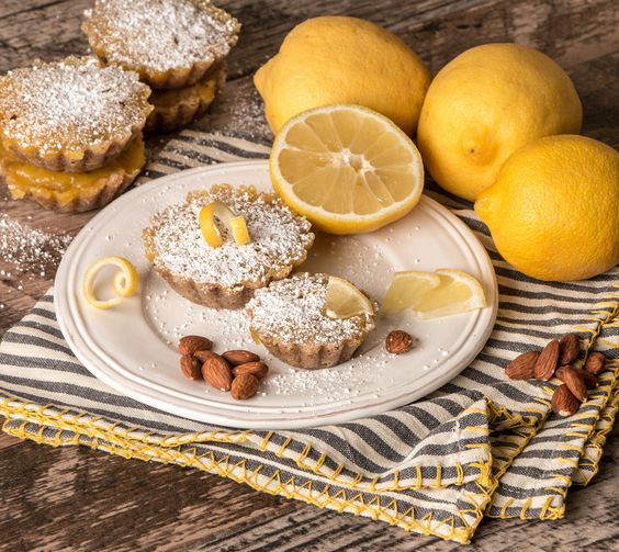Lemon Tarts with Almond Crust | by James Stiles Photography