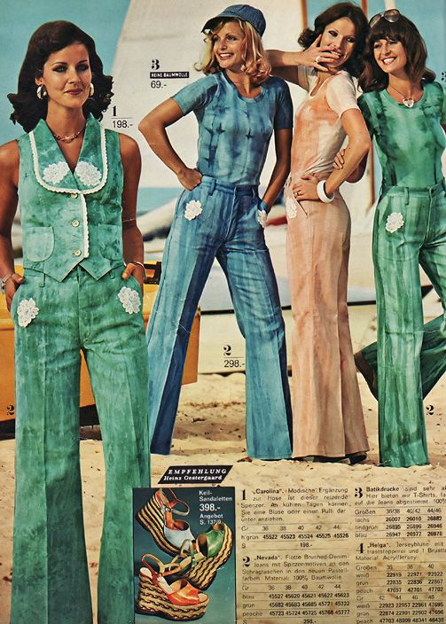 Quelle Catalog 1975 The Fashion Hits Batik Mixtures Such As Jeans And Lace Unusual Color