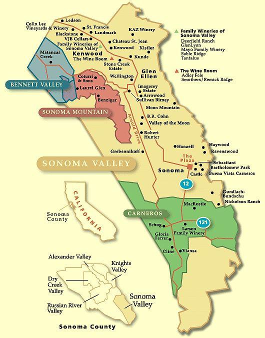 Principales 25 ideas increbles sobre Sonoma winery map en