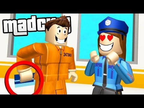 Tricking Police To Escape Mad City Prison Roblox Youtube Enfant