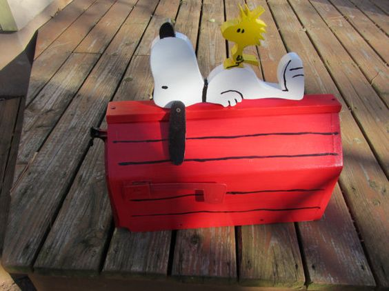 Handmade custom designed cartoon dog and bird functional for Funny mailboxes for sale