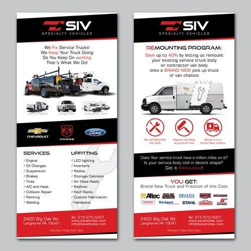 Design Post Card Rack Card For Auto Dealer Shop Postcard Flyer
