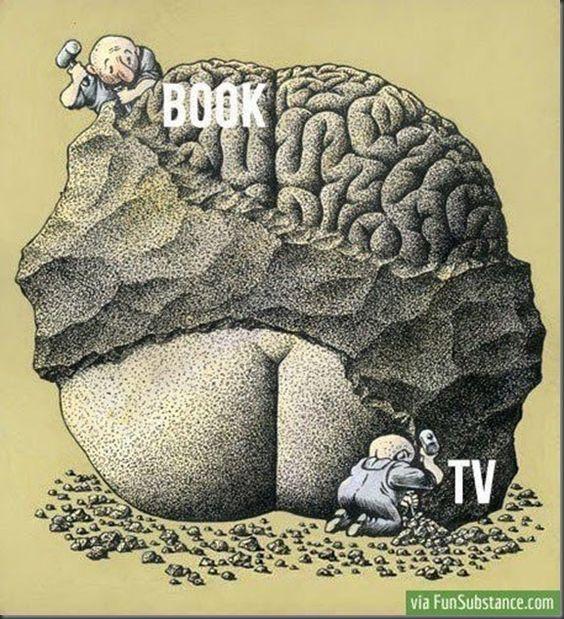 Books v/s TV  Haha - I so agree!
