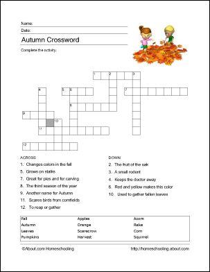 let fall crossword clue