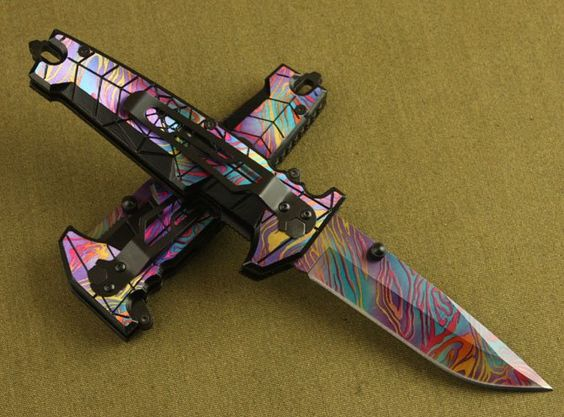 spider colorful folding knife/ camping hunting pocket knife/retail & wholesale/Free shipping(China (Mainland))