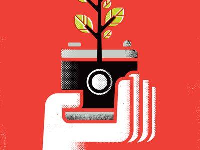 Dribbble - Camera poster by Matt Lehman