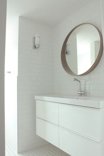 The white black and white tiles and vanities on pinterest - Ikea bathroom tiles ...