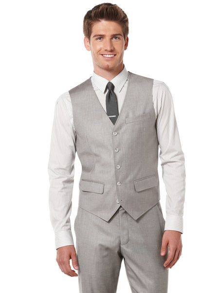 Perry Ellis Textured Suit Vest $40, and Big & Tall Textured Suit